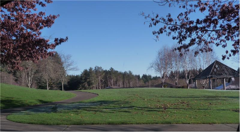 City of Lacey park area with walking trails nearby.