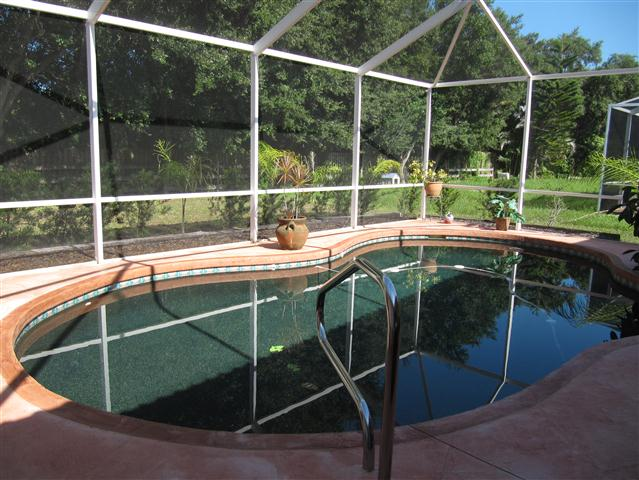 Caged Lanai and Pool