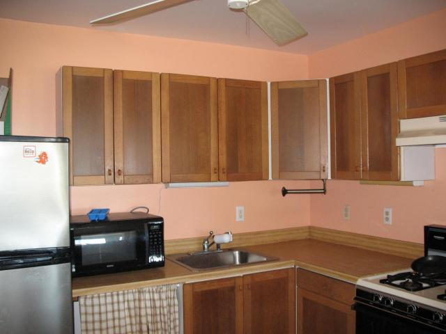Kitchen is very workable with lots of cabinet space