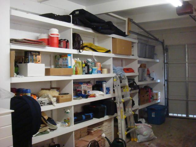 Garage has Tons of Storage