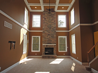 Floor to Ceiling Stone Fireplace