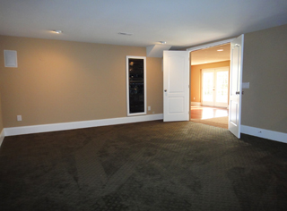 Entry to Theater Room with Rack Components