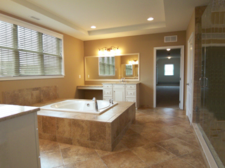 Jacuzzi Tub and Dual Vanities