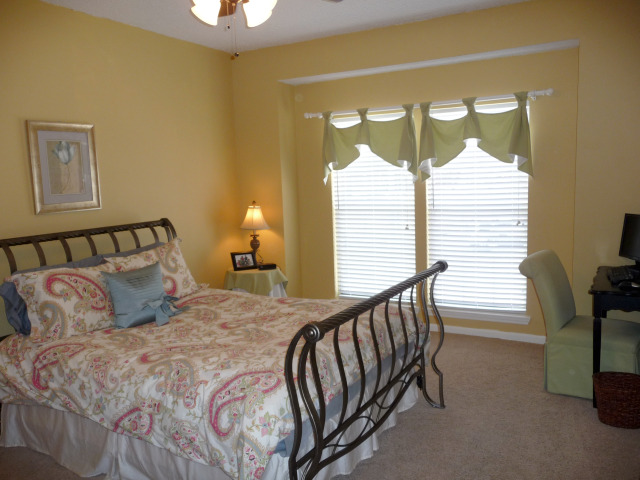 Master bedroom has lots of light and is large enough for a king size bed