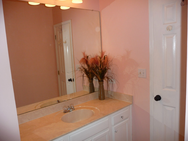 There is a nice full bath in the hall with a tub/shower combo for your guests