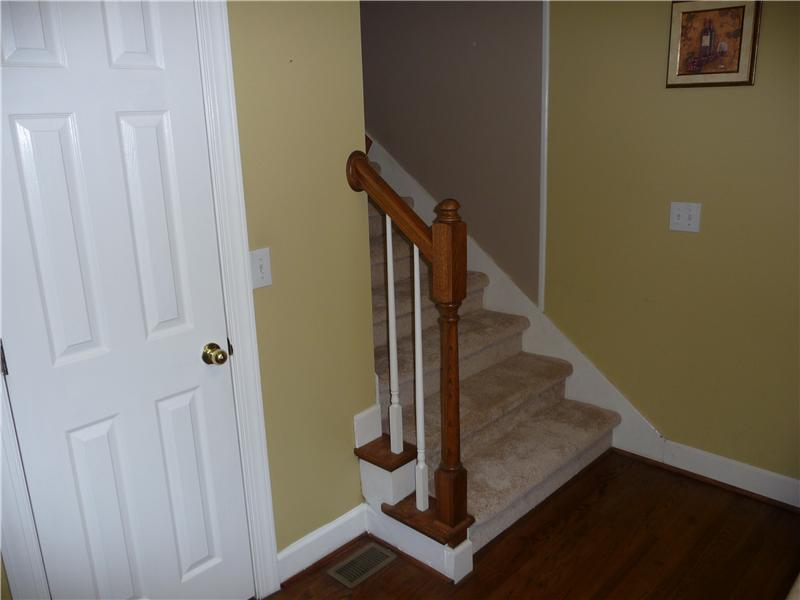 Pajama staircase off kitchen.