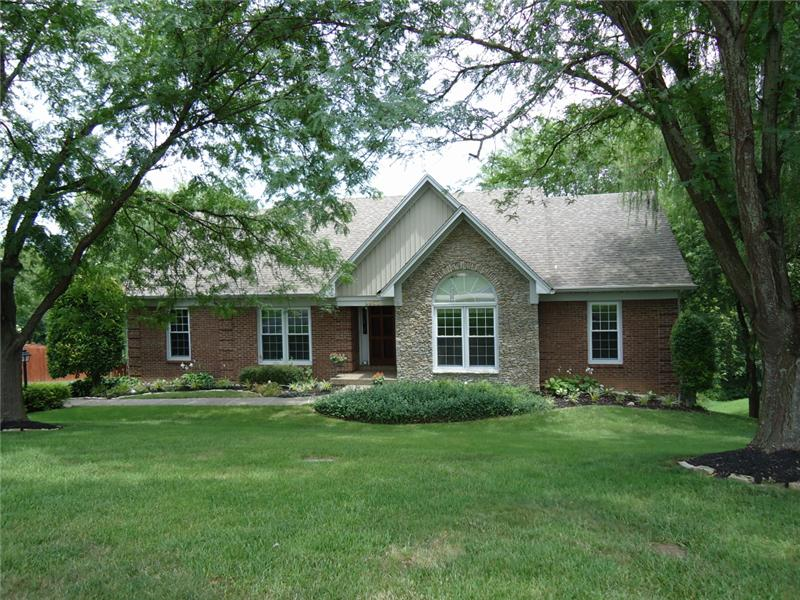 3500 Sq Ft Walkout Ranch with Brick and Creekstone exterior