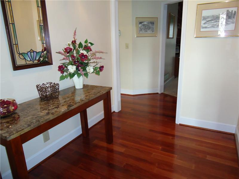 Foyer with Hardwood Floors