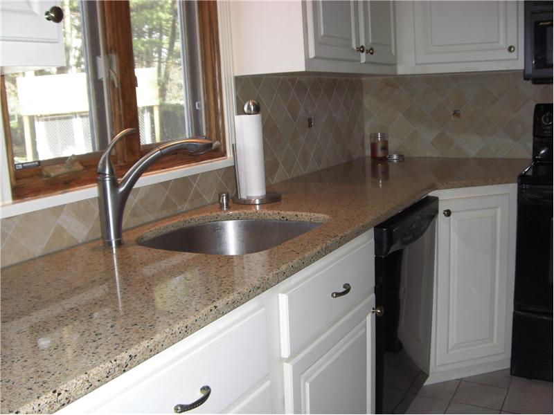 Kitchen with new solid surface counters