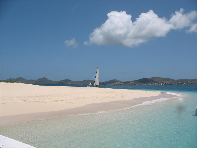The Perfect White Sand Beach of Buck Island