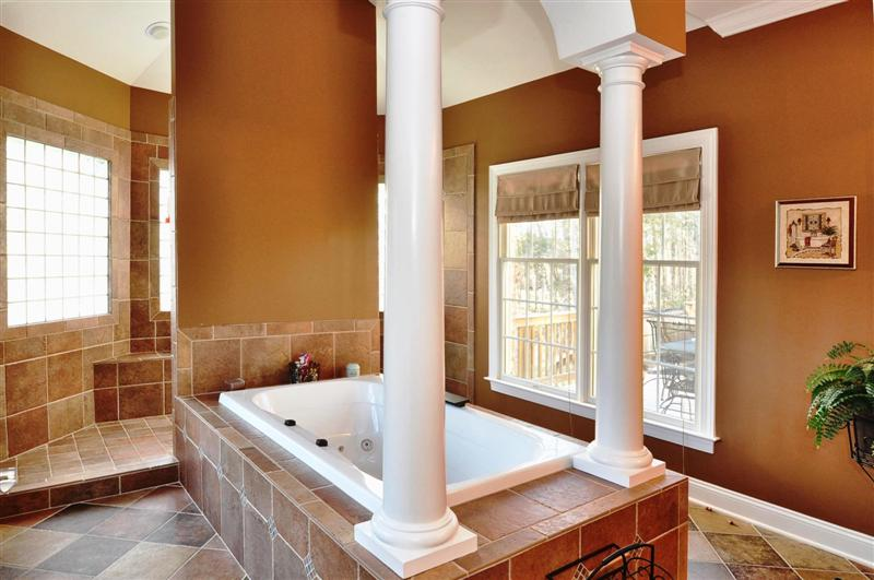 Whirlpool, jetted tub uniquely flanked by columns