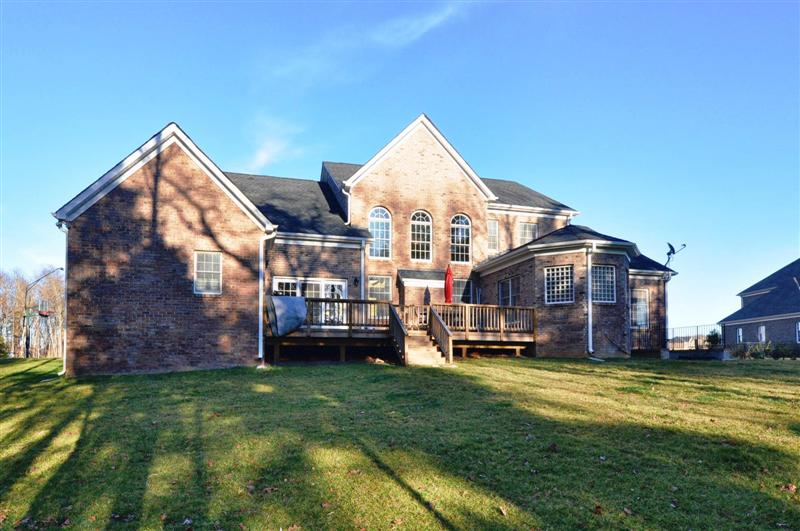 Rear elevation view of this truly incredible home in Waxhaw!