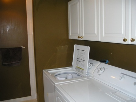 laundry room with standup shower